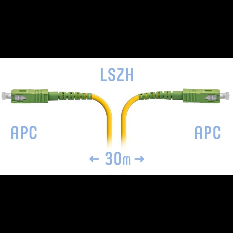 Патчкорд оптический SC/APC SM 30 метров