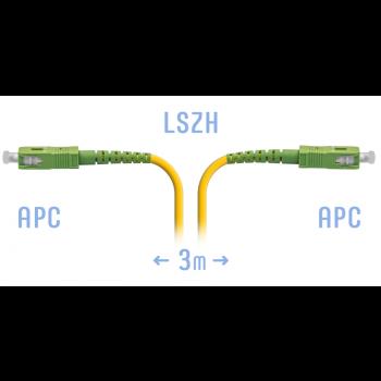 Патчкорд оптический SC/APC SM  3метра