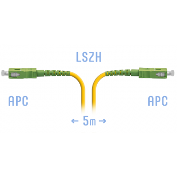 Патчкорд оптический SC/APC SM  5метров