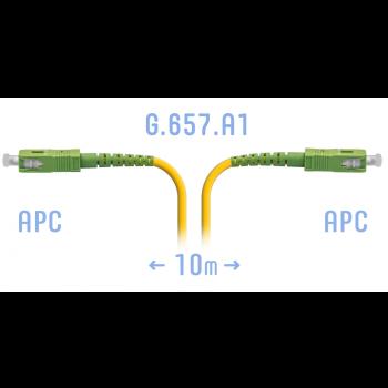 Патчкорд оптический SC/APC SM G.657.A1 10 метров