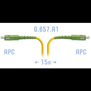 Патчкорд оптический SC/APC SM G.657.A1 15 метров
