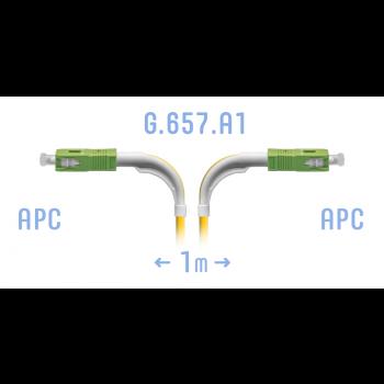 Патчкорд оптический SC/APC SM G.657.A1 (угловой) 1 метр