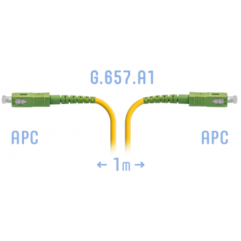 Патчкорд оптический SC/APC SM G.657.A1 1 метр