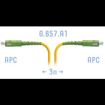 Патчкорд оптический SC/APC SM G.657.A1 3 метра
