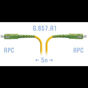 Патчкорд оптический SC/APC SM G.657.A1 5 метров