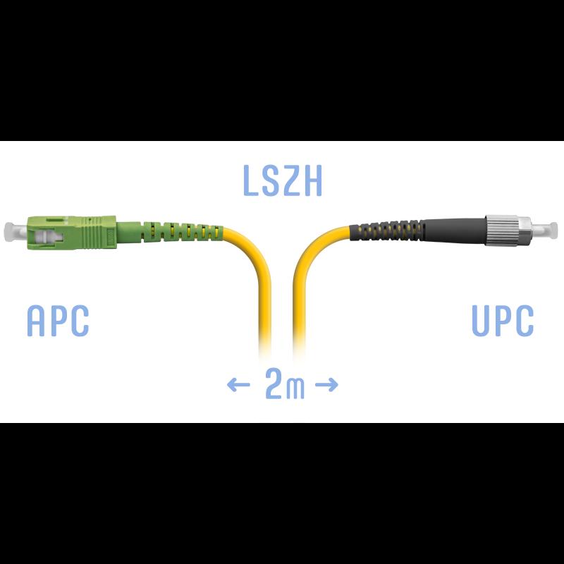 Патчкорд оптический SC/APC-FC/UPC SM 2 метра