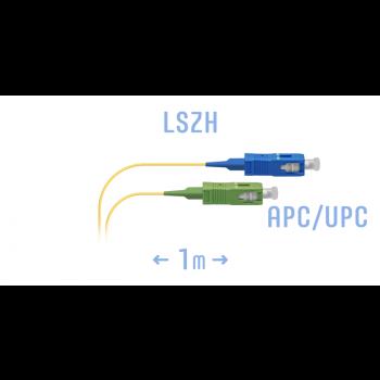 Шнур монтажный оптический SC/APC-SC/UPC 1m