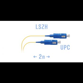 Шнур монтажный оптический SC/UPC SM 2м.