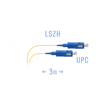 Шнур монтажный оптический SC/UPC-A SM 3м, сверхгибкое волокно