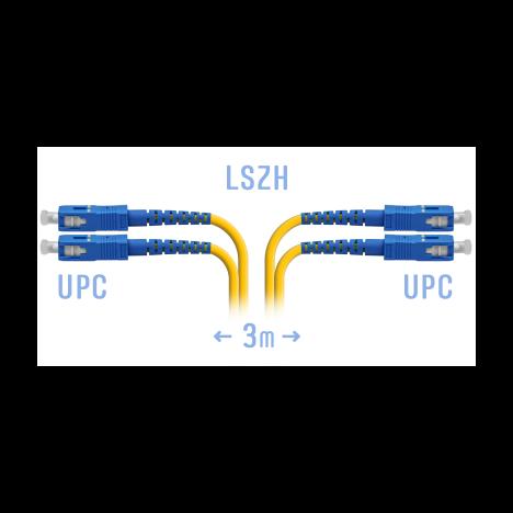 Патчкорд оптический SC/UPC SM Duplex 3метра