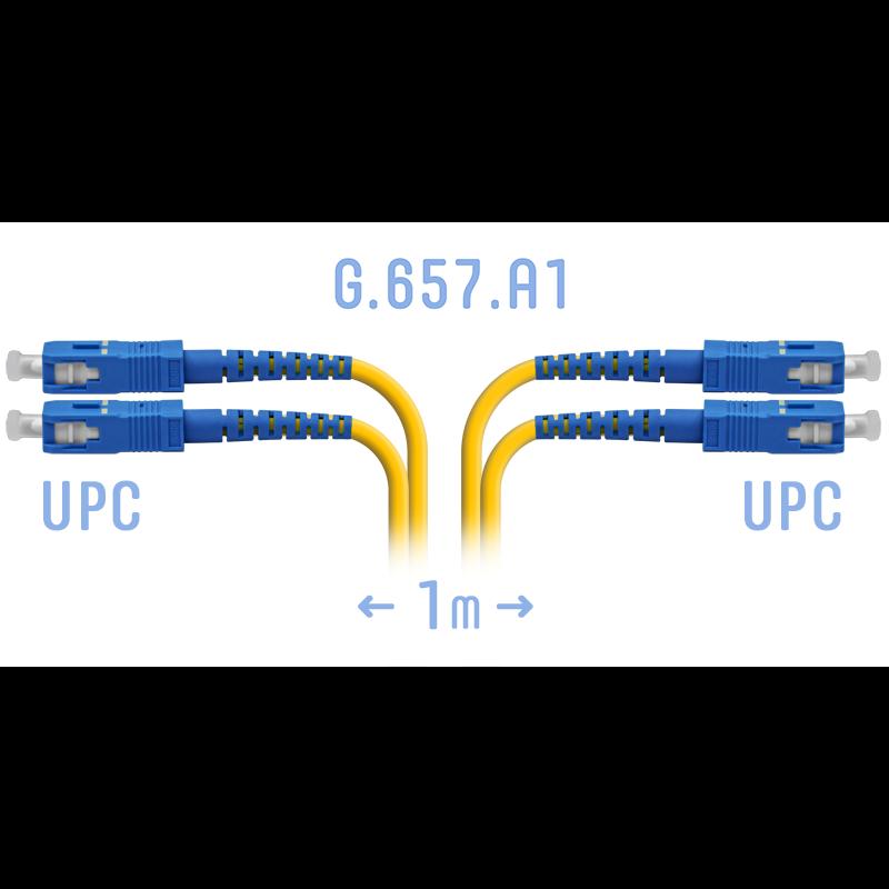 Патчкорд оптический SC/UPC SM G.657.A1 Duplex 1 метр