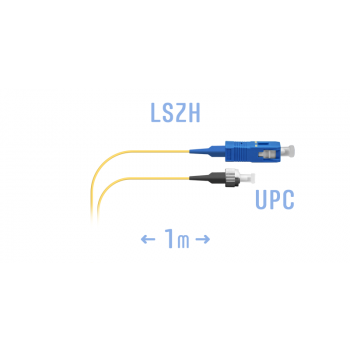 Шнур монтажный оптический SC/UPC-FC/UPC SM 1м