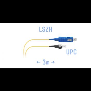 Шнур монтажный оптический SC/UPC-FC/UPC SM 3м.