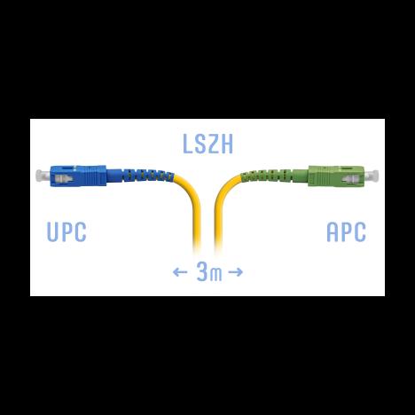 Патчкорд оптический SC/UPC-SC/APC SM 3 метра