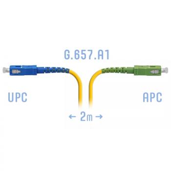 Патчкорд оптический SC/UPC-SC/APC SM G.657.A1 2 метра