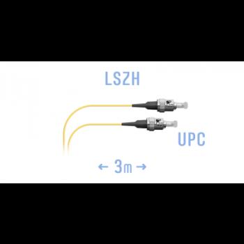 Шнур монтажный оптический ST/UPC SM 3м.