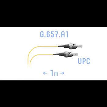Шнур монтажный оптический ST/UPC SM G.657.A1 1 метр
