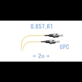 Шнур монтажный оптический ST/UPC SM G.657.A1 2 метра