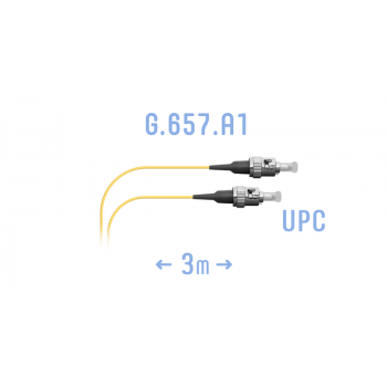 Шнур монтажный оптический ST/UPC SM G.657.A1 3 метра