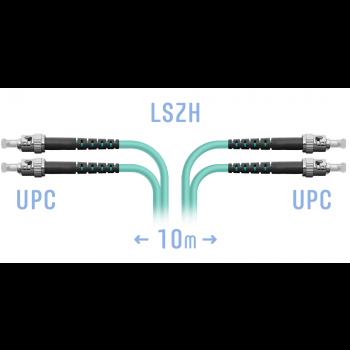 Патчкорд оптический ST/UPC MM Duplex 10 метров