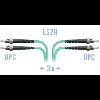 Патчкорд оптический ST/UPC MM Duplex 3метра