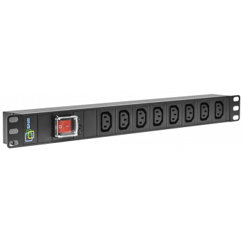 Блок электрических розеток на 8 гнезд IEC320 C13, без шнура питания с вилкой C14