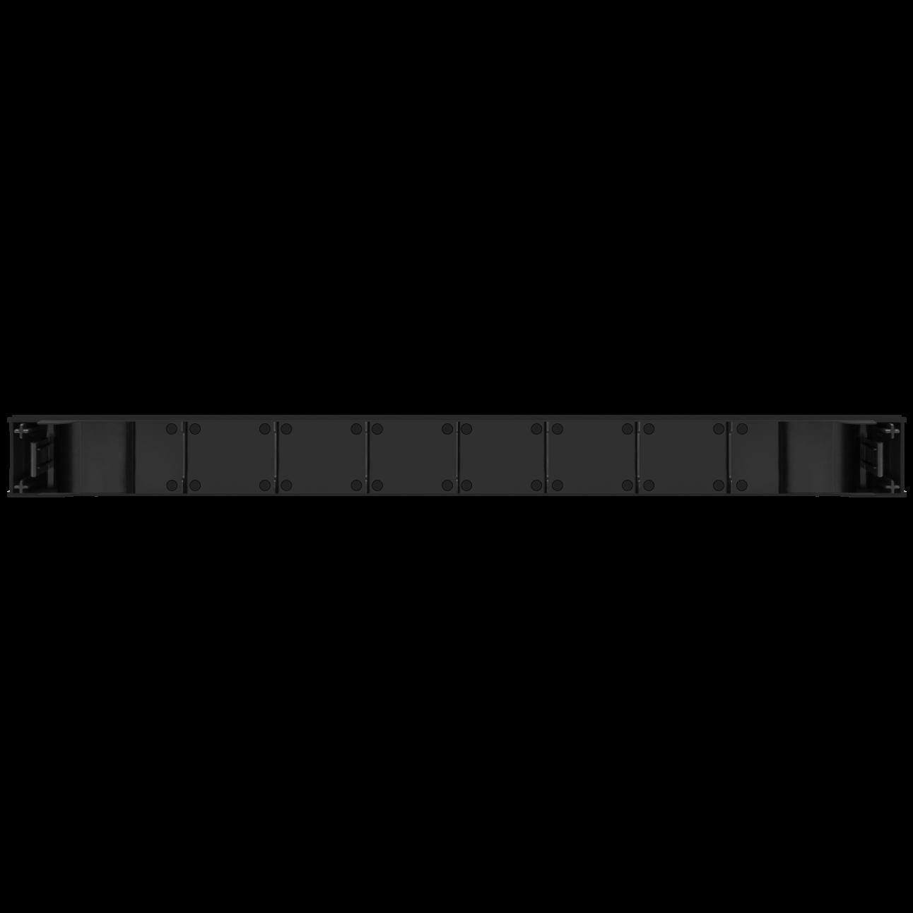 """Пластиковая фальшпанель-заглушка 19"""" высота 1U, монтаж без инструментов"""
