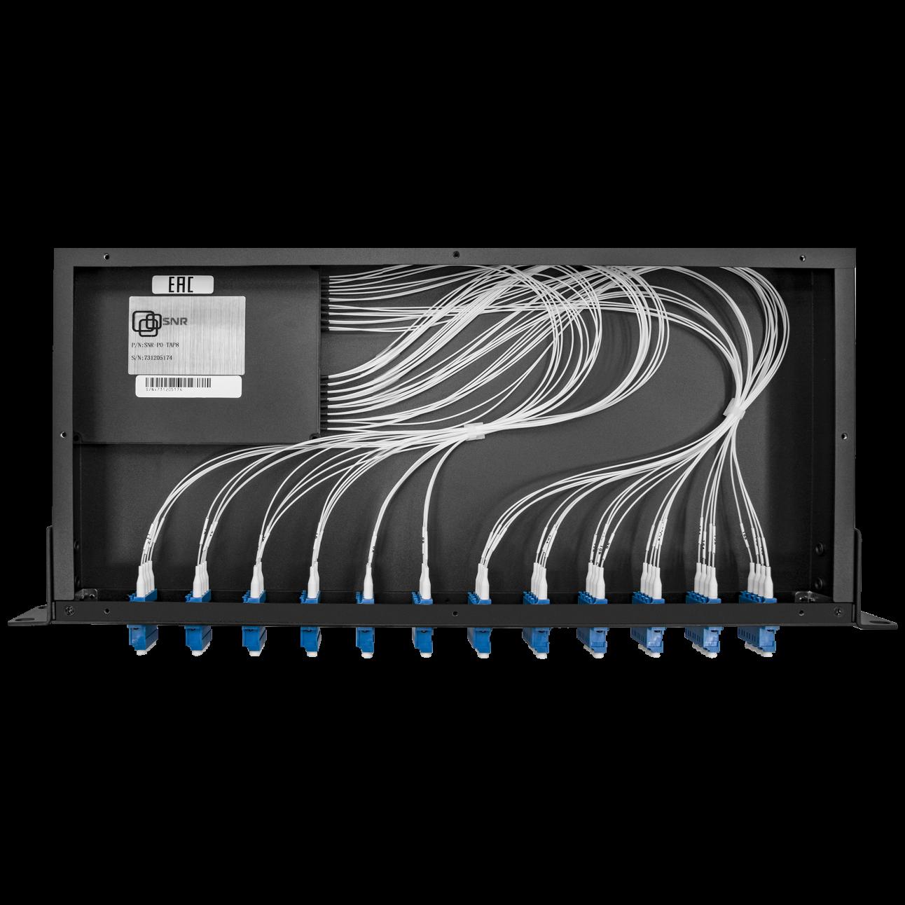 Пассивный оптический отвод 16 портов (деление 1х2), 1U