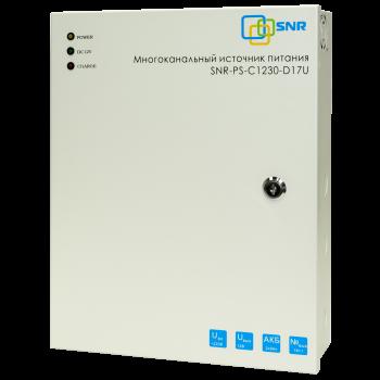 Многоканальный источник питания SNR-PS-C1230-D17U, 16x1.56А+ 1x5А, 12В  DC, 30A, АКБ 2х9Ач (без АКБ в комплекте)