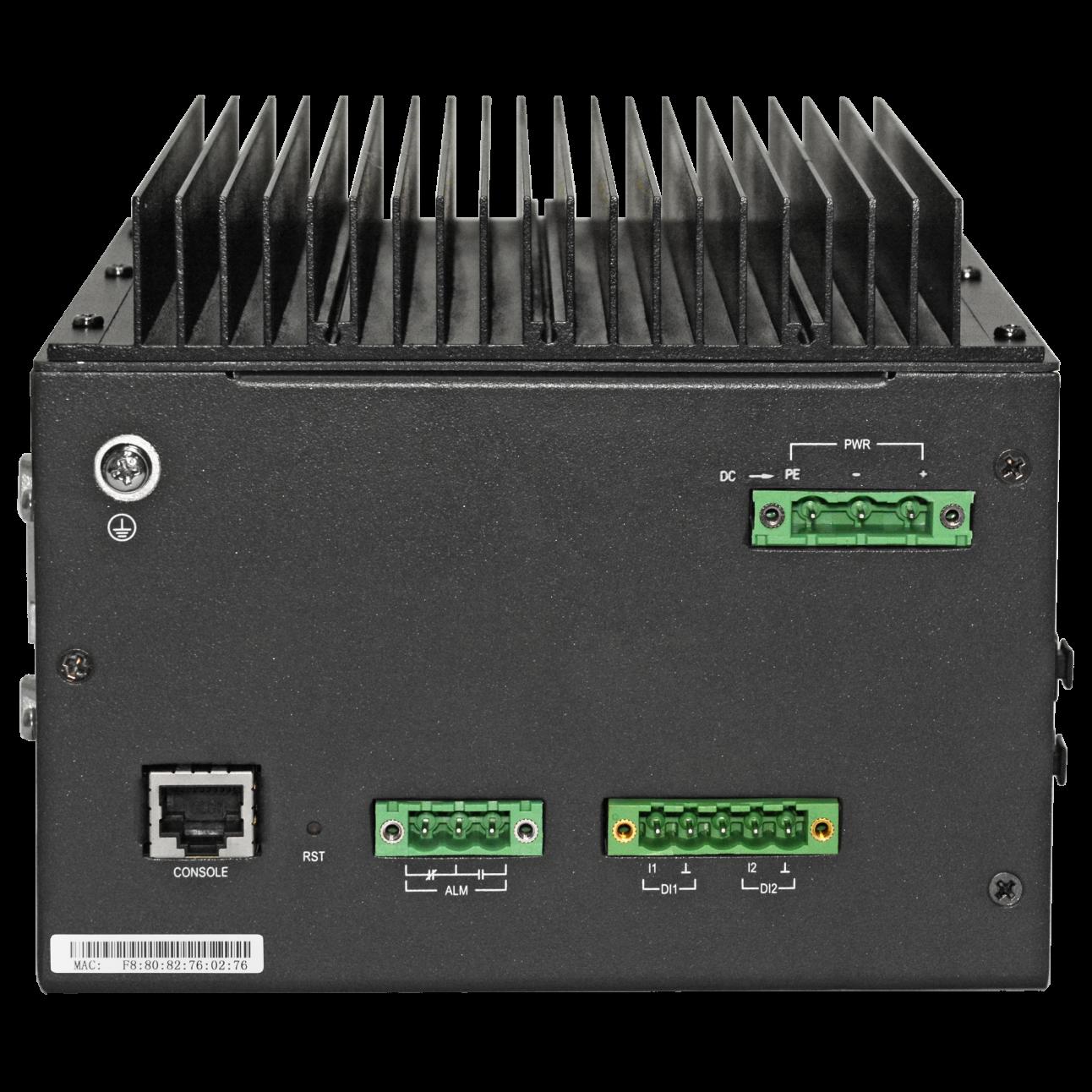 Управляемый промышленный POE коммутатор уровня 2 SNR-S212i-8POE-DC