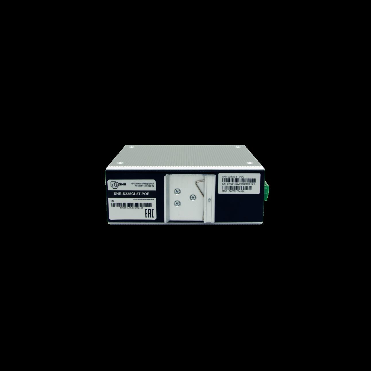 Управляемый промышленный POE коммутатор уровня 2 SNR-S225Gi-8T-POE