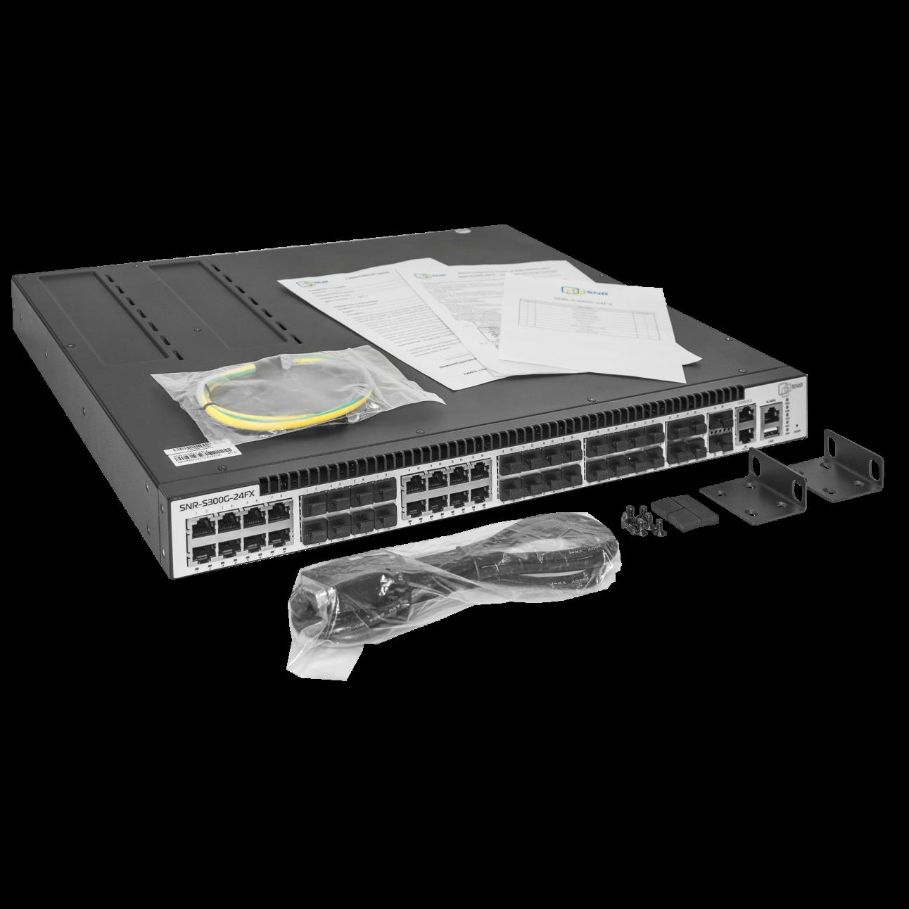 Управляемый коммутатор уровня 3 SNR-S300G-24FX без блоков питания