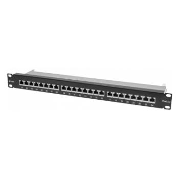 """Коммутационная панель SNR, 19"""" экранированная, 1U, 24 порта, cat.6, горизонтальная заделка"""