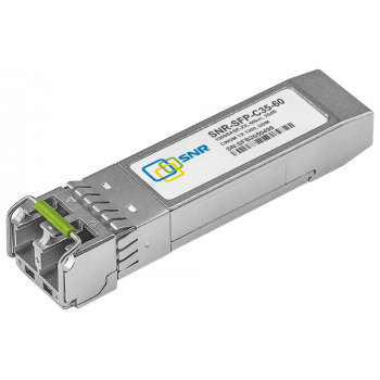 Модуль SFP CWDM оптический, дальность до 60км (25dB), 1350нм