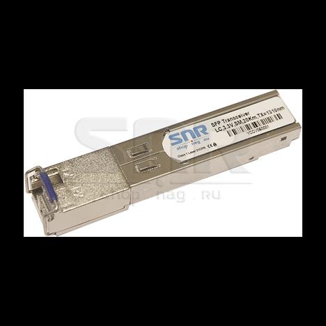 Одноволоконный модуль, SFP SGMII WDM, разъем LC simplex, рабочая длина волны Tx/Rx: 1310/1550нм, дальность до 10км