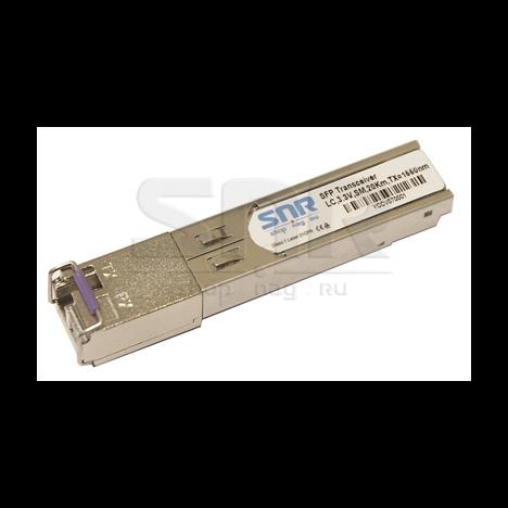 Одноволоконный модуль, SFP SGMII WDM, разъем LC simplex, рабочая длина волны Tx/Rx: 1550/1310нм, дальность до 10км