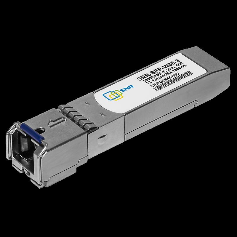 Модуль SFP WDM, дальность до   3км (6dB), 1310нм, комплект 100шт