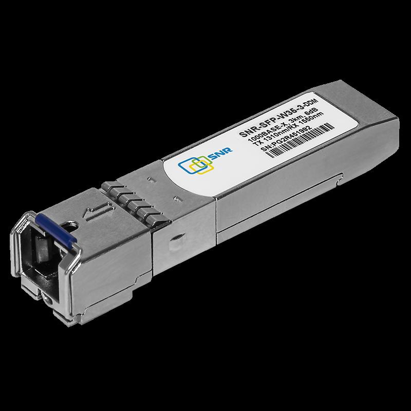 Модуль SFP 1.25G WDM, дальность до 3км (6dB), 1310нм, с функцией DDM