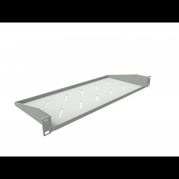 Полка консольная для шкафов глубиной 400мм, (глубина полки 200мм) распределенная нагрузка 20кг, цвет-серый (SNR-SHELF-04020-20GC)