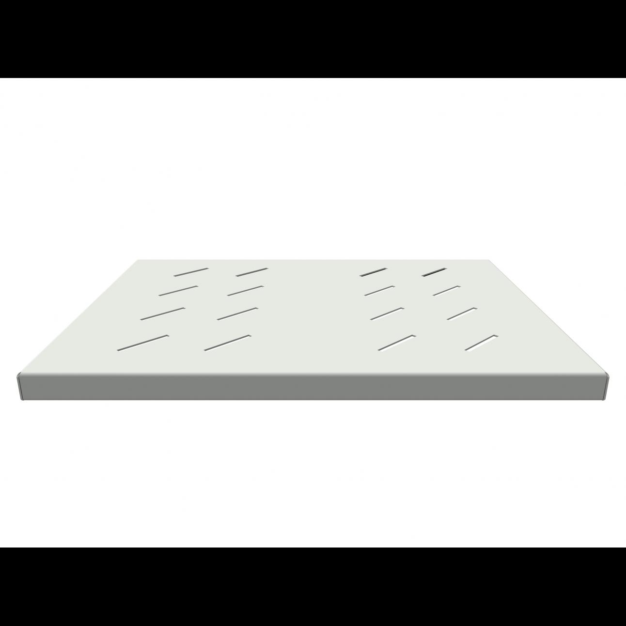 Полка стационарная усиленная для шкафов глубиной 600мм, (глубина полки 350мм) распределенная нагрузка 120кг, цвет-cерый (SNR-SHELF-06035-120G)
