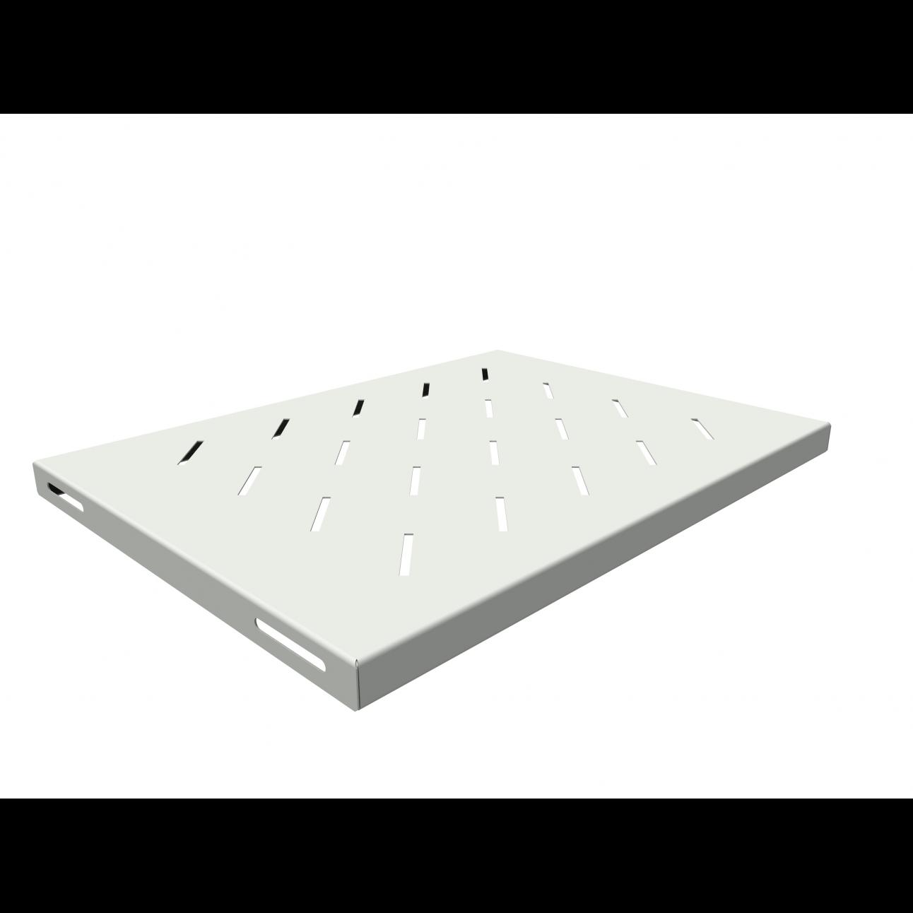 Полка стационарная для шкафов глубиной 600мм, (глубина полки 350мм) распределенная нагрузка 20кг, цвет-серый (SNR-SHELF-06035-20G)