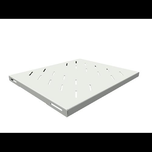 Полка стационарная усиленная для шкафов глубиной 600мм, (глубина полки 400мм) распределенная нагрузка 120кг, цвет-серый (SNR-SHELF-06040-120G)