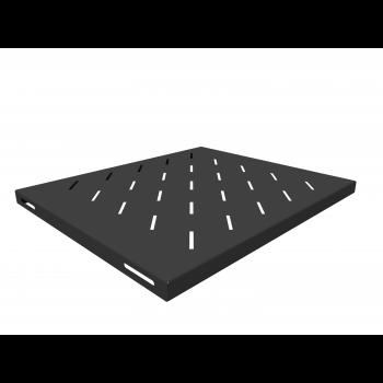 Полка стационарная для шкафов глубиной 600мм, (глубина полки 400мм) распределенная нагрузка 20кг, цвет-черный (SNR-SHELF-06040-20B)