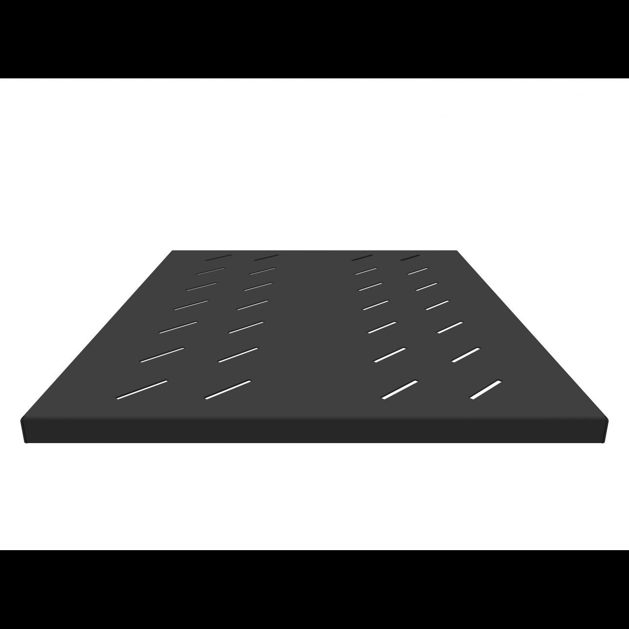 Полка стационарная усиленная для шкафов глубиной 800мм, (глубина полки 550мм) распределенная нагрузка 120кг, цвет-черный (SNR-SHELF-08055-120B)