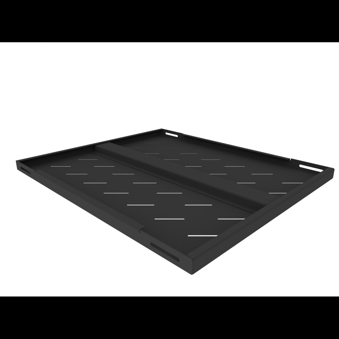 Полка стационарная усиленная для шкафов глубиной 800мм, (глубина полки 550мм) распределенная нагрузка 250кг, цвет-черный (SNR-SHELF-08055-250B)