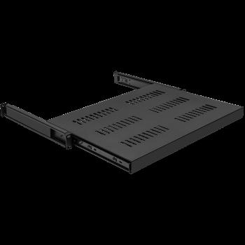 Полка выдвижная для шкафов глубиной от 800 до 1000мм (глубина полки 550мм), распределенная нагрузка 20кг, цвет-черный