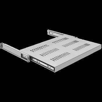 Полка выдвижная для шкафов глубиной от 800 до 1000мм (глубина полки 550мм), распределенная нагрузка 20кг, цвет-серый