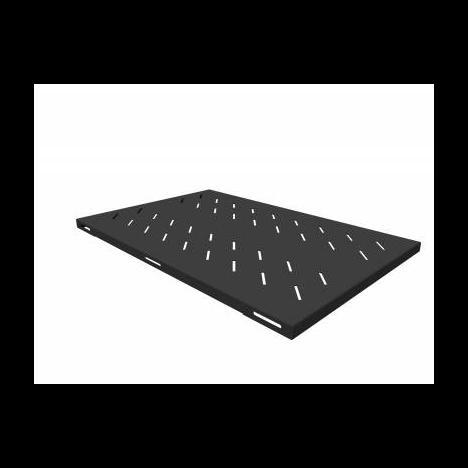 Полка стационарная усиленная для шкафов глубиной 1000мм, (глубина полки 710мм) распределенная нагрузка 120кг, цвет-черный (SNR-SHELF-10071-120B)