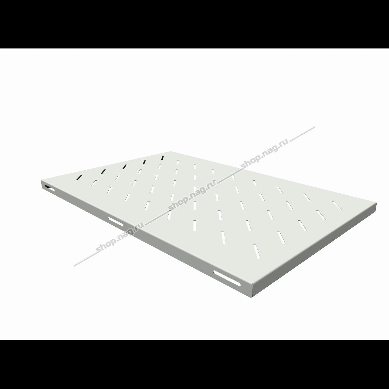 Полка стационарная для шкафов глубиной 1000мм, (глубина полки 710мм) распределенная нагрузка 20кг, цвет-серый (SNR-SHELF-10071-20G)