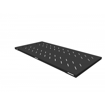 Полка стационарная усиленная для шкафов глубиной 1200мм, (глубина полки 950мм) распределенная нагрузка 120кг, цвет-черный (SNR-SHELF-12095-120B)
